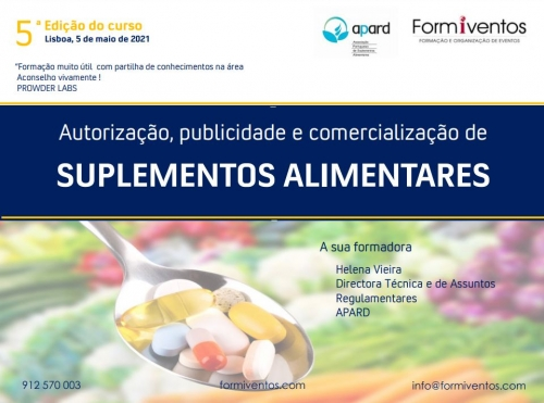 Formiventos | Suplementos Alimentares | 5 de Maio 2021